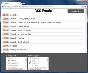 RSS feed page